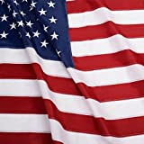 G128 - U.S. Nylon US Flag 4x6 Ft Embroidered Stars Sewn Stripes Brass Grommets 210D Quality Oxford Nylon (4X6 FT, US Flag)