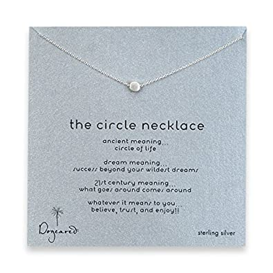 Dogeared sterling silver the circle karma necklace amazon dogeared sterling silver quotthe circlequot aloadofball Image collections