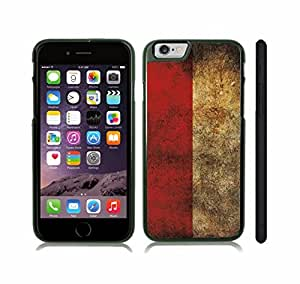 iStar Cases? iPhone 6 Plus Case with Poland Flag Distressed Grunge Look Design , Snap-on Cover, Hard Carrying Case (Black)