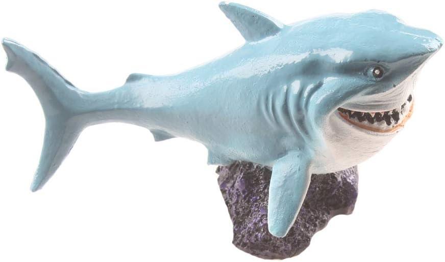 emours Resin Shark Fish Tank Decor Adorable Aquarium Ornament Cute Home Decoration