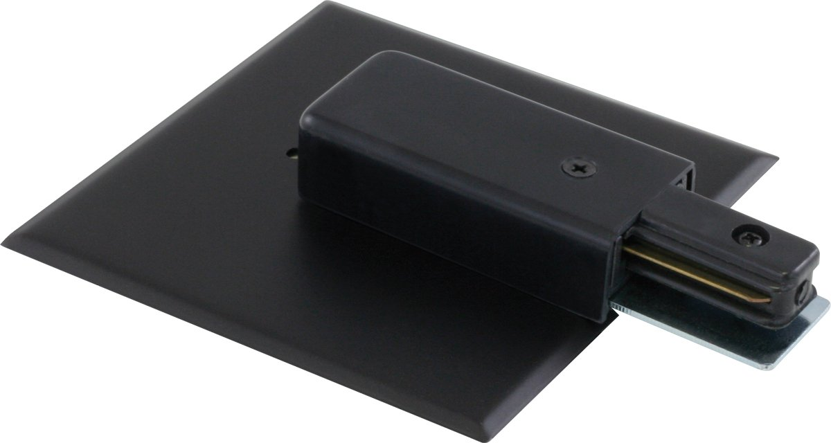 Liteline LE6111-BK Live End With Canopy For Track Fixtures Black