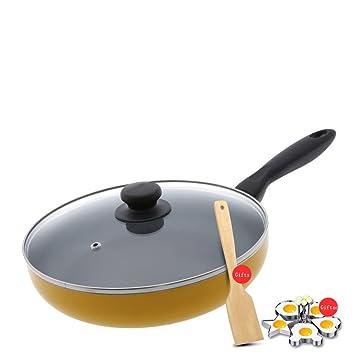 LLW-Frying Pans Sartenes para Sartenes Pan De Tortilla Mini Pan Antiadherente Antiadherente Mini Mini Suplemento Alimenticio Panqueque Pan Huevo Sartén ...