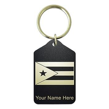 Amazon.com: Llavero – bandera de Puerto Rico – grabado ...
