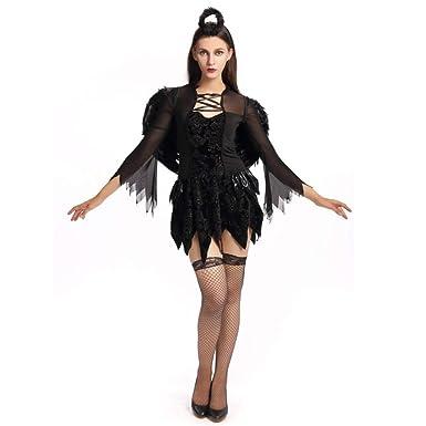 Hallowmax Traje de Disfraz de la Bruja del Diablo de Las Señoras ...