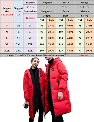 Length Clothes Jackets Fashion Quilted Men's Padded Cotton Couples Hooded BESBOMIG Keep Medium Ladies Black Coat Breathable Warm Y0WFZqfnT
