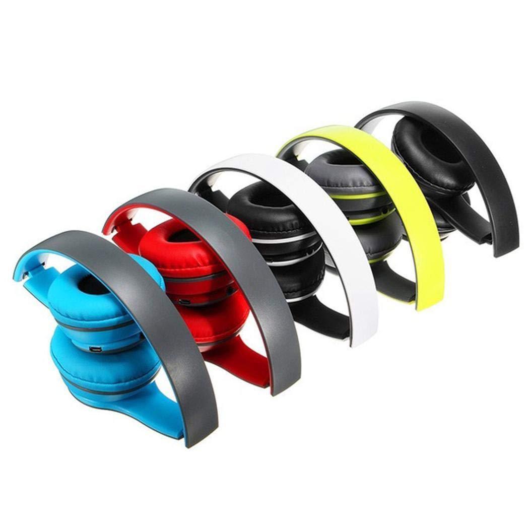 Smiela Cuffie Bluetooth Over Ear, Cuffie Stereo Bluetooth con cancellazione del Rumore Bluetooth 4.1, Pieghevole per PC Cellulari TV Cuffie con Cavo
