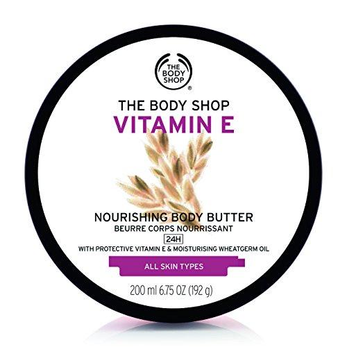 The Body Shop Vitamin E Body Butter, Nourishing Body Moisturizer, 6.75 Oz.