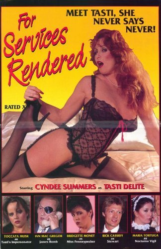 For Services Rendered POSTER Movie (27 x 40 Inches - 69cm x 102cm) (1984)