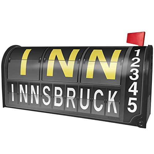 NEONBLOND INN Airport Code for Innsbruck Magnetic Mailbox Cover Custom (Inn Port)