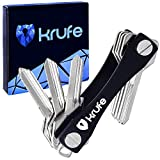 Smart Key Organizer by Krufe| Compact and Expandable Key Holder with Sim Card and Bottle Opener, Keychain Ring, Double Loop and Expansion Pack + eBook on Better Organizing Skill