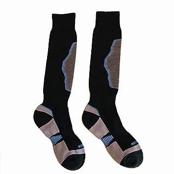 LMHZTMA Calcetines de esquí Al Aire Libre Engrosado Tubo Largo Senderismo de montaña Calcetines rápidos para