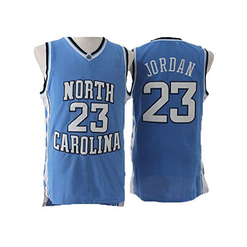 Michael Jordan North Carolina Jersey (meetziis Men's #23 Basketball Jerseys Retro Jersey Blue(S-XXL) (XXL))