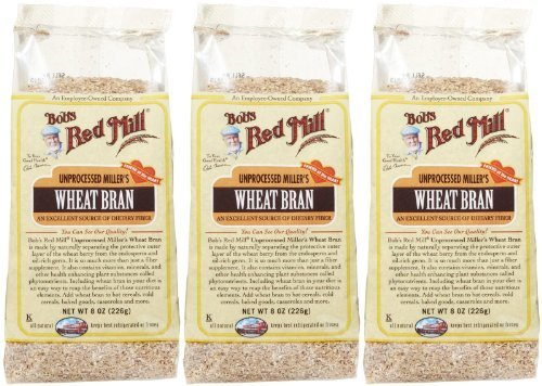 Bob's Red Mill Unprocessed Wheat Bran - 8 oz - 3 pk