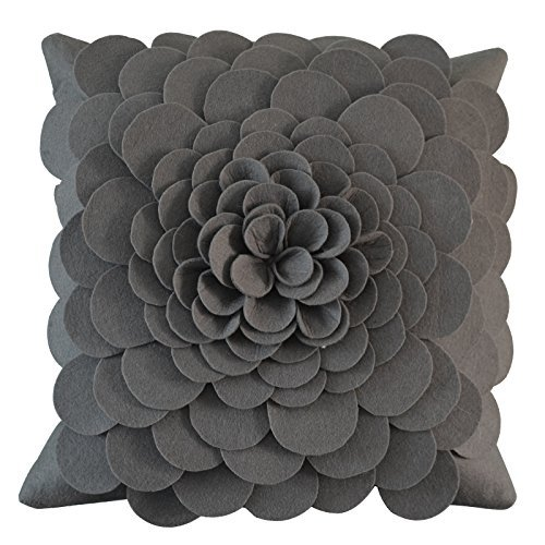 HOMEE Template Room Chairs Pillow Cushion Yellow Sofas Decorated by Package Floating Pane Pillow Kit American Minimalist ,45X45Cm, Soft Pack Blue Rose,Gray Rose,45x45cm
