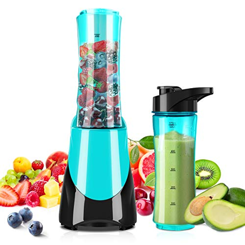 Personal Blender,CUSINAID Portable Blender for Shakes and Smoothies,Single Serve Small Blender with BPA Free 20 oz Tritan Travel Sport Bottle,300W