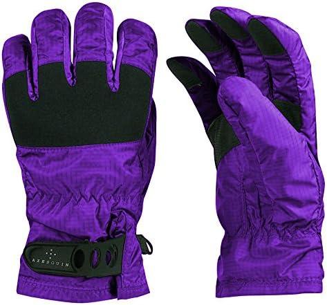 AXESQUIN(アクシーズクイン) スノーボードグローブ 手袋 レディース Rain Glove RG3556 オーベルジーヌ L