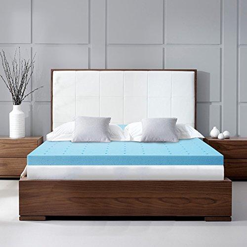 Ergonomic Sleep TG181040T XL Gel Foam Mattress Topper Pad, 4''/TWIN XL, Blue by VLAVEN