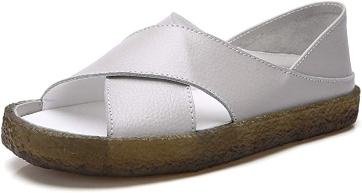 Womens Comfortable Flat Sandals Leather