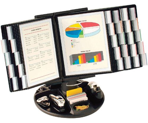 - Aidata FDS021L-30 Flip and Find Reference Display Document Holder, Black, 30 Panels 60 Pages, Letter Size