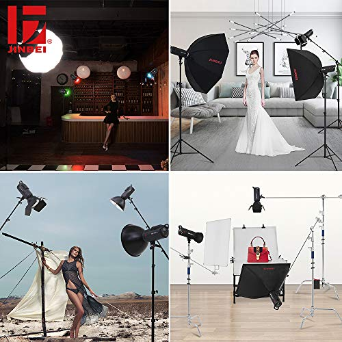 JINBEI JB-A Accessories 7.9''/ 20cm Standard Reflector Bowens Mount and Barndoor Barn Door with Honeycomb Grid & 3 Color Filter Gels Set for Studio Strobe Flash Light by JINBEI (Image #3)
