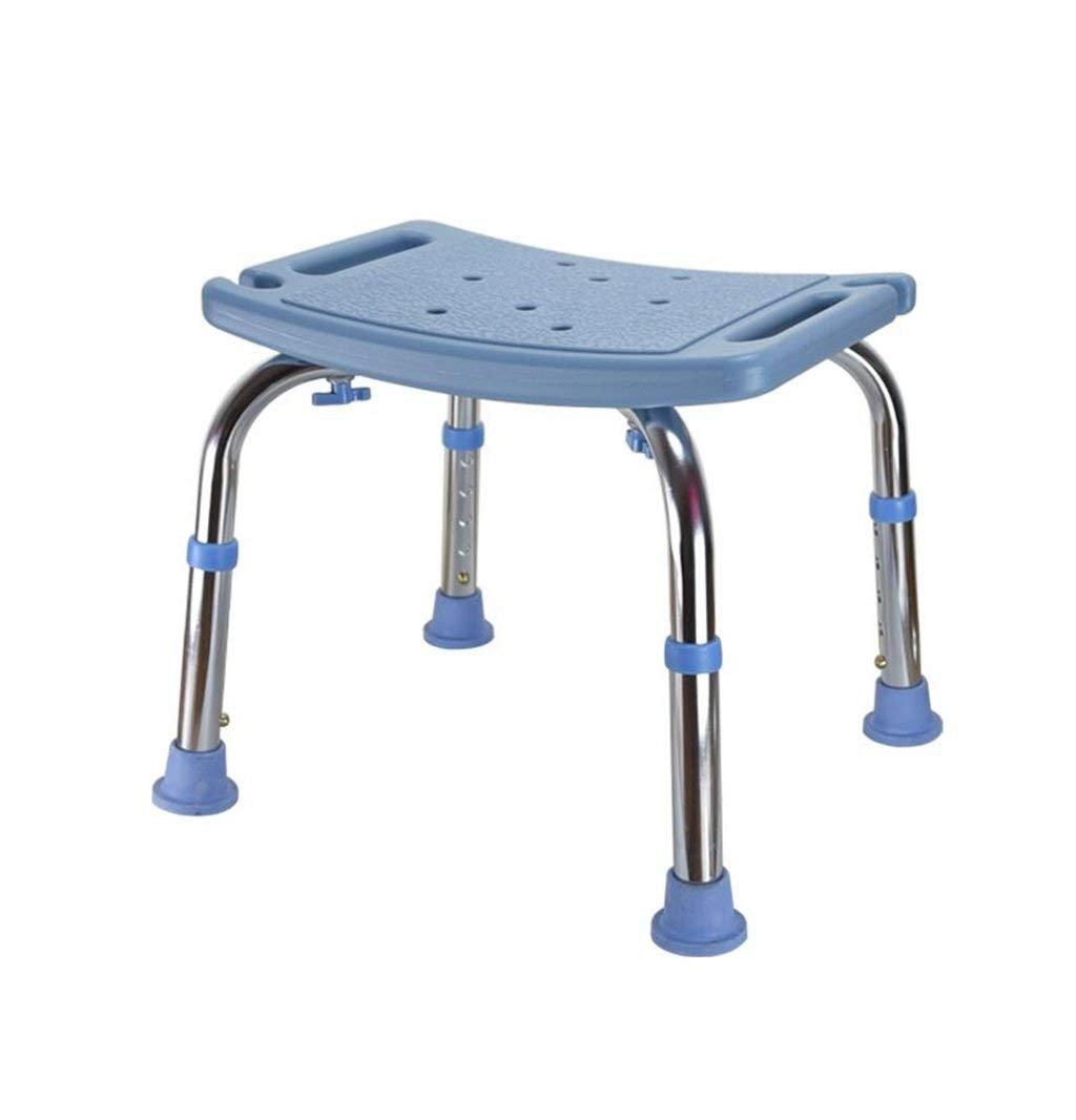 妊娠中の女性のためのバススツールとアルミニウム合金シャワーシートスツール高齢者シャワースツール調節可能な高さスッキリ手すり付きの水着 - 青 - 耐荷重136kg (色 : 青) B07DPNPNXN  青