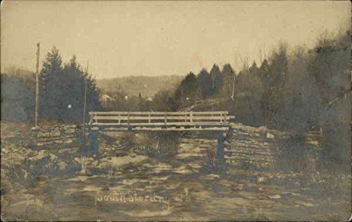 (Wood and Stone Bridge - South Sterling, Pa South Sterling, Pennsylvania Original Vintage Postcard)