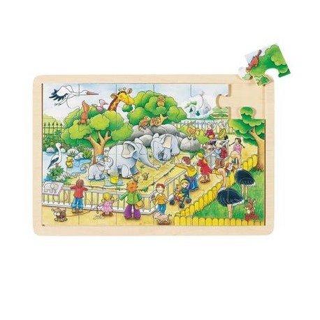 Goki Juego de mesa PUZZLE MADERA 24 piezas Modelo ANIMALES ...