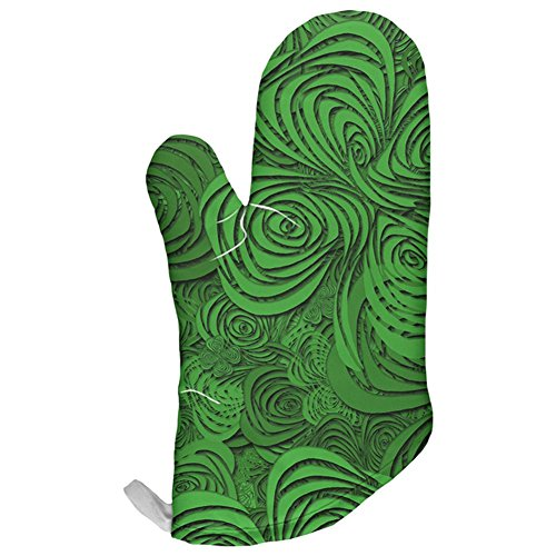 St Patricks Day Trippy Irish Clover Field All Over Oven Mitt Multi Standard One Size -