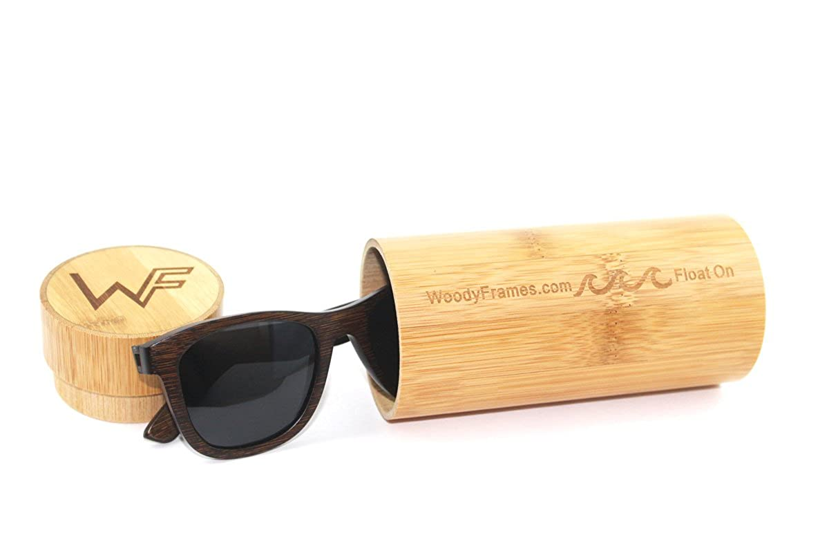 9f83026c8d Amazon.com  Woody Frames Boozers Polarized Bamboo Sunglasses