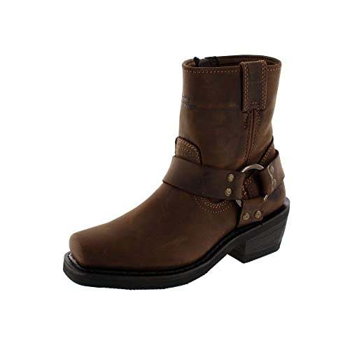 762a025bf58c Harley Davidson Ladies Ankle Boots El Paso - Brown Leather - UK Size 3.5 -  EU Size 36 - US Size 5.5  Amazon.co.uk  Shoes   Bags