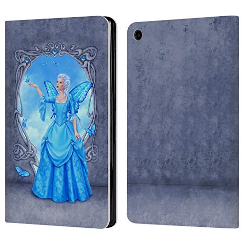 (Official Rachel Anderson Blue Topaz Birth Stone Fairies Leather Book Wallet Case Cover for Amazon Fire HD 8 (2017))