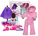 Sophia's Doll Outfit and Pretend Play Hair Salon | 30 Pc. Set Plus Pink Sweatsuit, Child Sized & Doll Sized Complete Hair Accessory Set and 18 Inch Doll Outfit