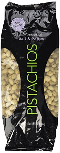 Wonderful Pistachios, Salt & Pepper Flavor, 48 Ounce