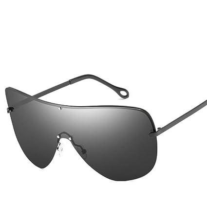 BiuTeFang Gafas de Sol Mujer Hombre Polarizadas Moda Metal Grande Marco Alta Definición polarizado Gafas de