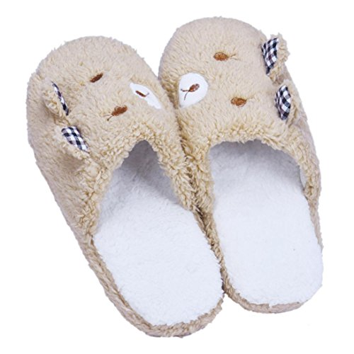 Besde Cute warm Casual Soft Home Floor Soft Cotton-padded Slippers Women Shoes (Great China Sheep Plush)