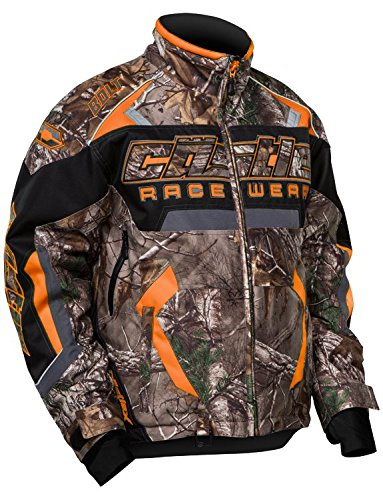 Castle X Racing Mens Real Tree Camo Orange Bolt-G3 Jacket- Large