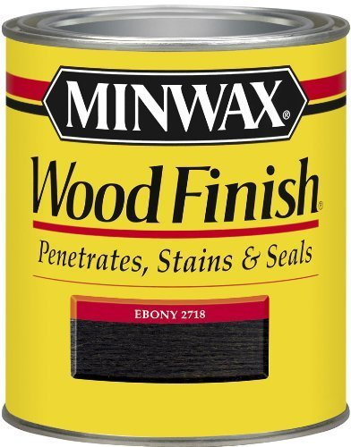 (Minwax 70013 1 Quart Wood Finish Interior Wood Stain, Ebony by Minwax)