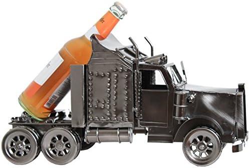 BRUBAKER Bier Flaschenhalter Truck Metall Skulptur XXL Geschenk mit Geschenkkarte