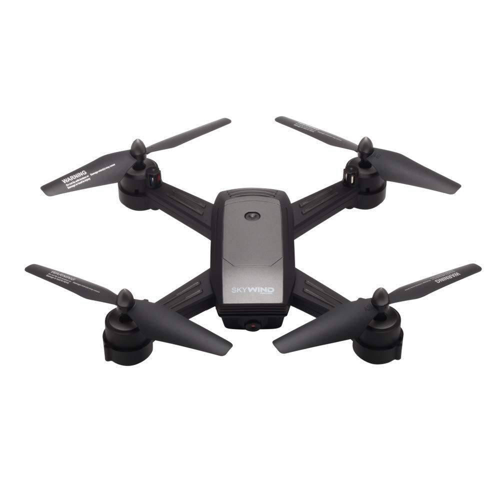 Yezijin Unmanned Aerial Vehicle, UAV, RC Quadcopter Optical Flow Dual Lens Gesture Photo Helicopter 720P Camera Drone (Glay)