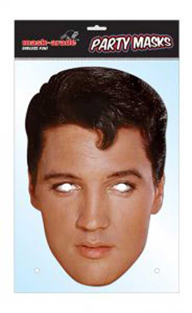 Gummiband empireposter Elvis Presley Prominentenmaske 30x21 cm Gr/össe ca Papp Maske aus hochwertigem Glanzkarton mit Augenl/öchern