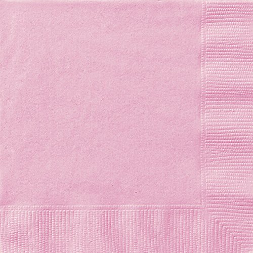 Light Pink Paper Napkins, 20ct (Party Shower Paper Lunch Napkins)