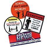 American Redesign Funny Hard Hat Stickers - Funny Tool Box Stickers for Guys, Toolboxes, Mugs, Tools, Hardhat Stickers, Truck Bumper Stickers Made in USA (4pk)