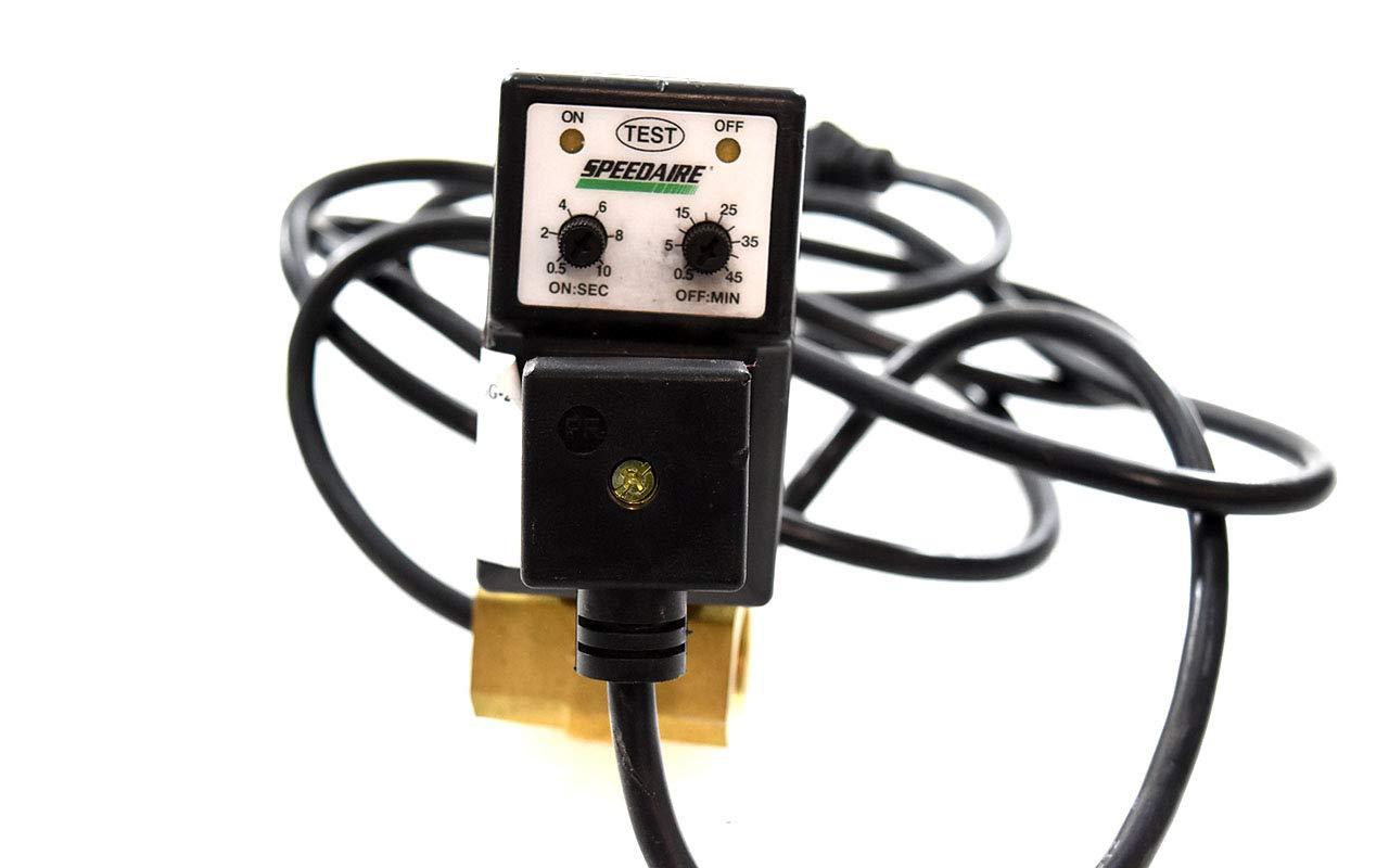 """Drain Size 1//4/"""" Voltage: 115 V 4.0 Gpm Speedaire 53Dn43 Auto Drain Valve"""