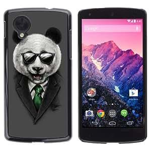 YOYOSHOP [Classy Panda & Sunglasses Illustration] LG Google Nexus 5 Case