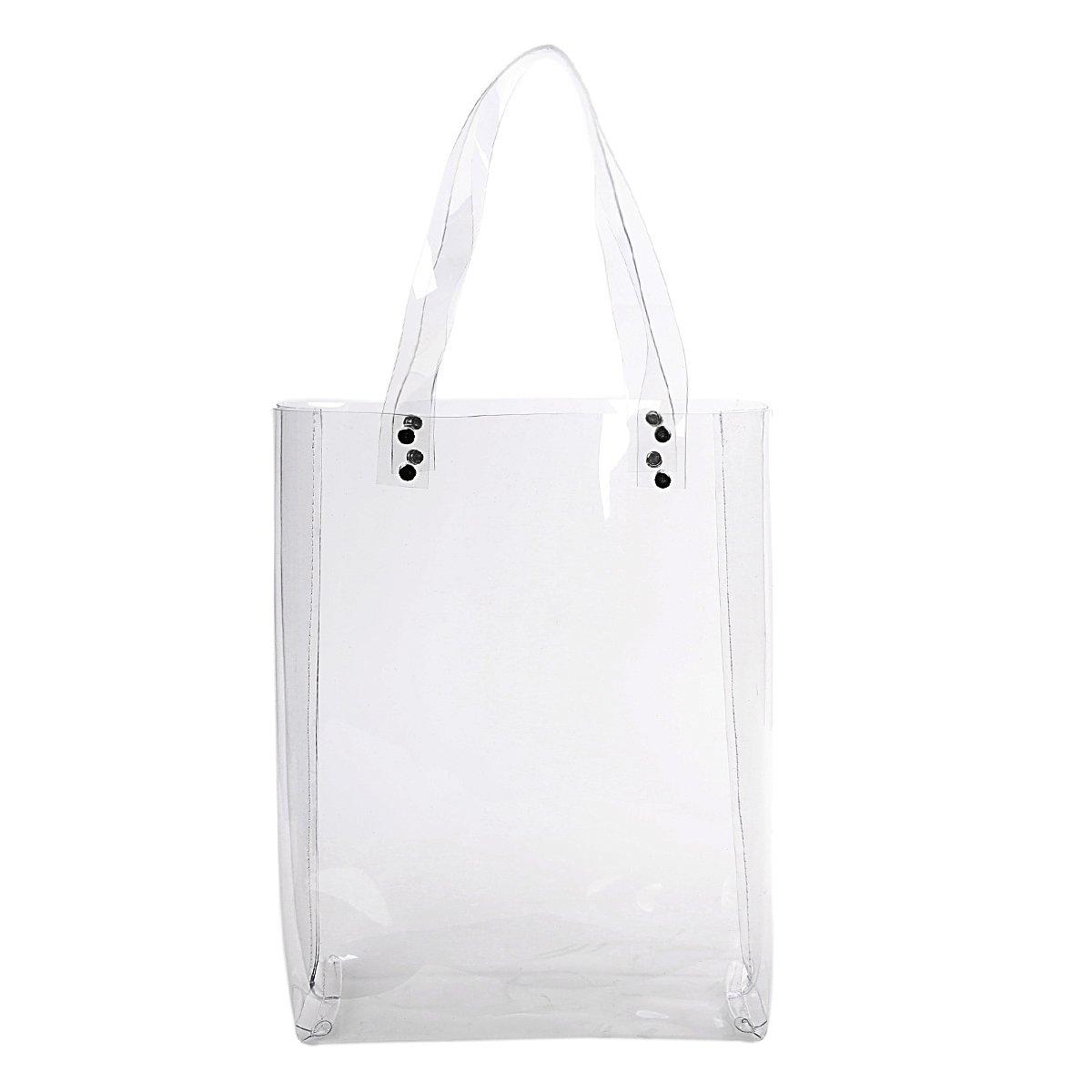 99da5881c604 Amazon.com  Zarapack Women s Clear Transparent Bag Large Tote PVC Bag  Shopping Bag  Shoes