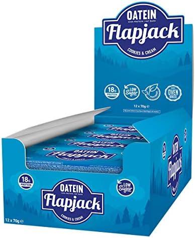 Oatein Hafer & Protein Flapjack, Cookies & Cream - 12 bar
