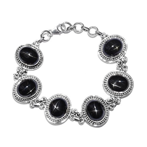 Artisan Crafted Black Star Diopside Sterling Silver Bracelet 7.50 (Diopside Sterling Silver Bracelet)