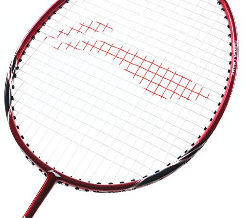 Li Ning Badminton Racket Power X Series Player Edition Light Weight Carbon Graphite Shaft 80+ GMS with Full Carrying Bag Cover (Power X9 - Red/Black)