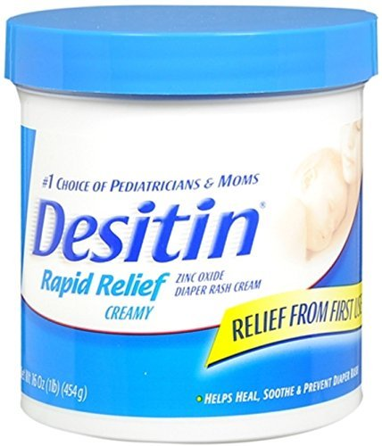 DESITIN Rapid Relief Diaper Rash Cream 16 oz (Pack of 10)