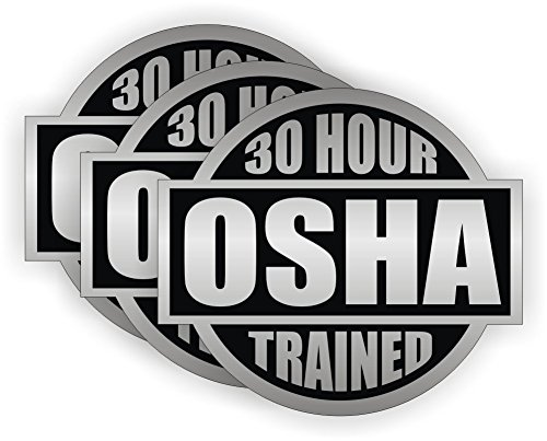 30 Hour OSHA Trained circle vinyl Hard Hat Helmet Decal by